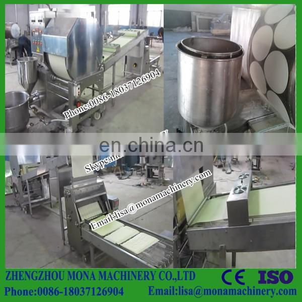 Total Automatic Best Selling Samosa Sheet Spring Roll Pastry Sheet Making Machine (high Capacity)
