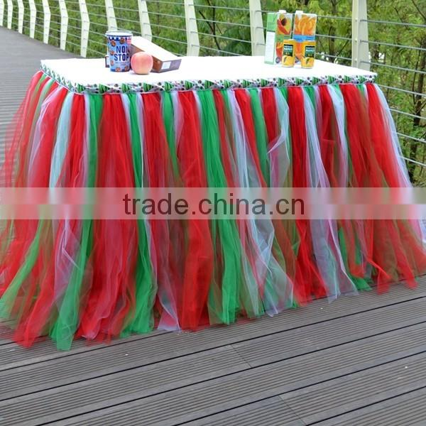 Handmade Tutu Tulle Table Skirt Cover for Girl Princess Birthday Party,Baby Shower SD103