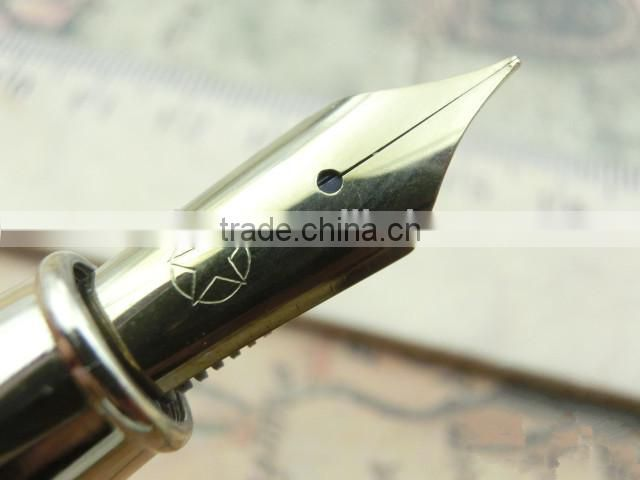 Hot sell crocodile leather fountain pen for high end business gift