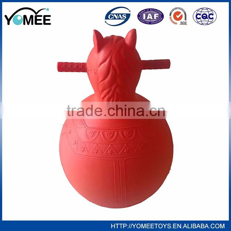 Wholesale inflatable jumping animal, kids hopper toy horse, inflatable space hopper ball
