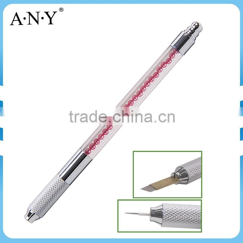 ANY New Arrival Acrylic Handle Pearl Permanent Eyebrow Pencil Microblading Pen Tool Tattoo Machine Pen