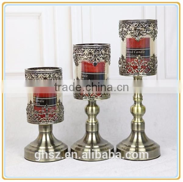Hot Selling classic wholesale cheap glass candlesticks