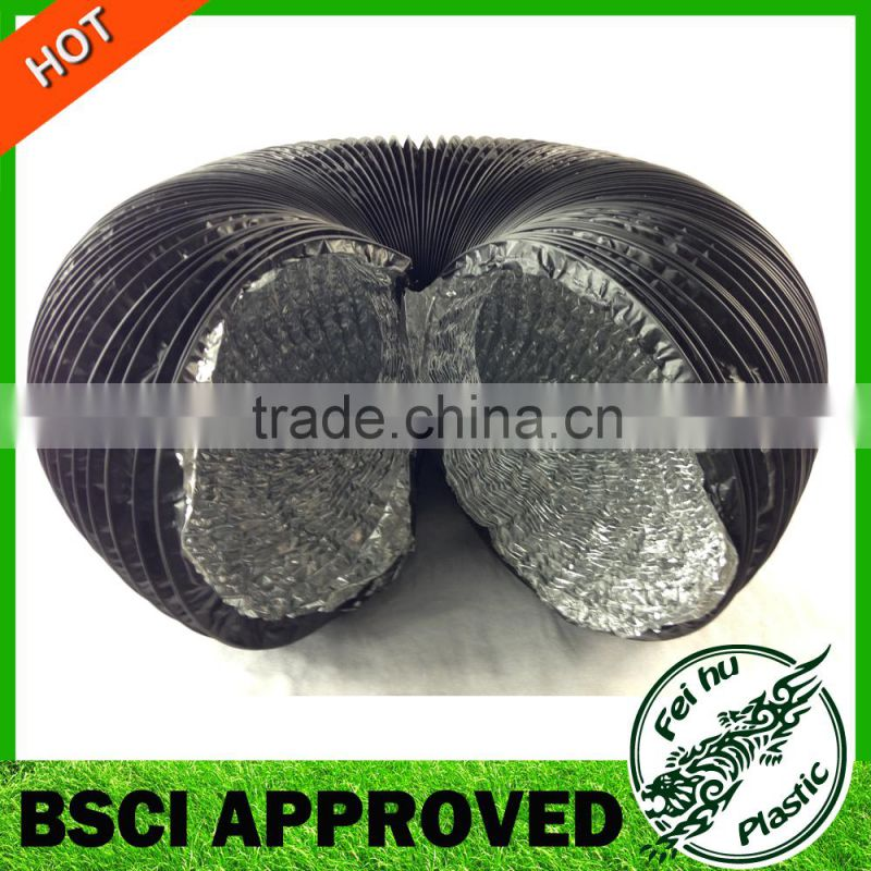 Manufacturer Wholesale Aluminium ventilation enpandable Air Duct air vent pipe aluminium foil flexible duct Image
