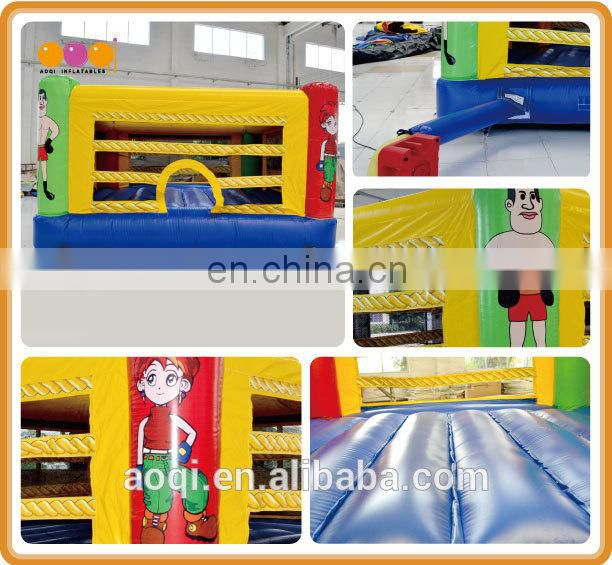 AOQI popular design outdoor inflatable interactive boxing games for adults