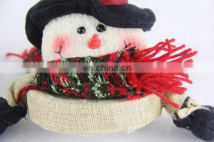 linen Christmas plush dolls candy box brush pot gift box
