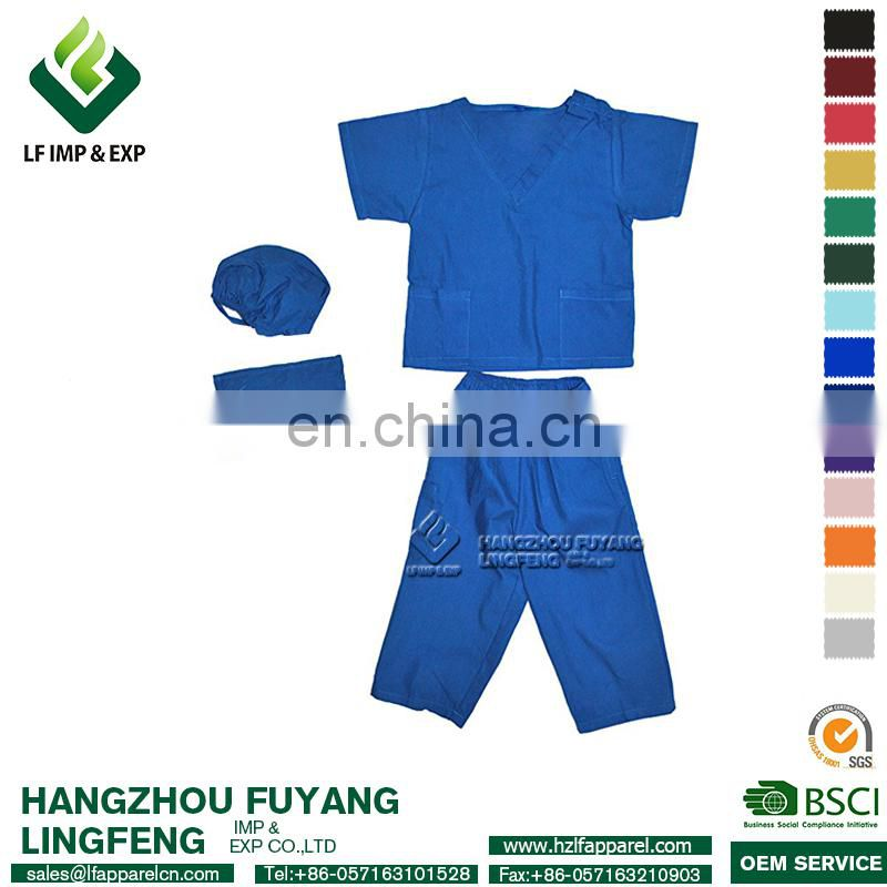 2017 Wholesale Royal Blue Medical Nursing Hospital V-neck Set