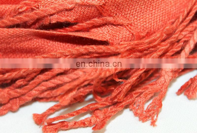 100% bamboo product solid scarf and excellent quality JDC-326
