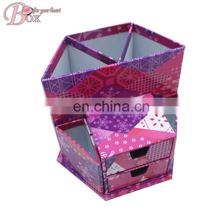 Alibaba China functional office & school supplies flower stationery box with drawers