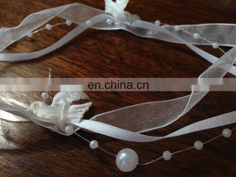 Pearl Chain Satin Ribbon For Wedding Decoration