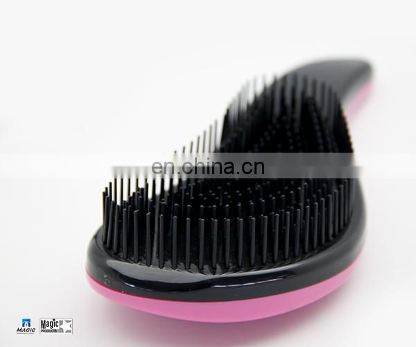 Colorful Comb Pin Brush Plastic Hair Brush With Handle