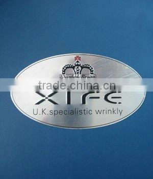 OEM rectangle badge engrave/printing logo labels made in china