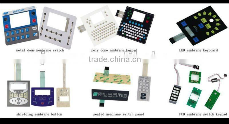 Chinese high quality rubber silicon membrane switch/membrane