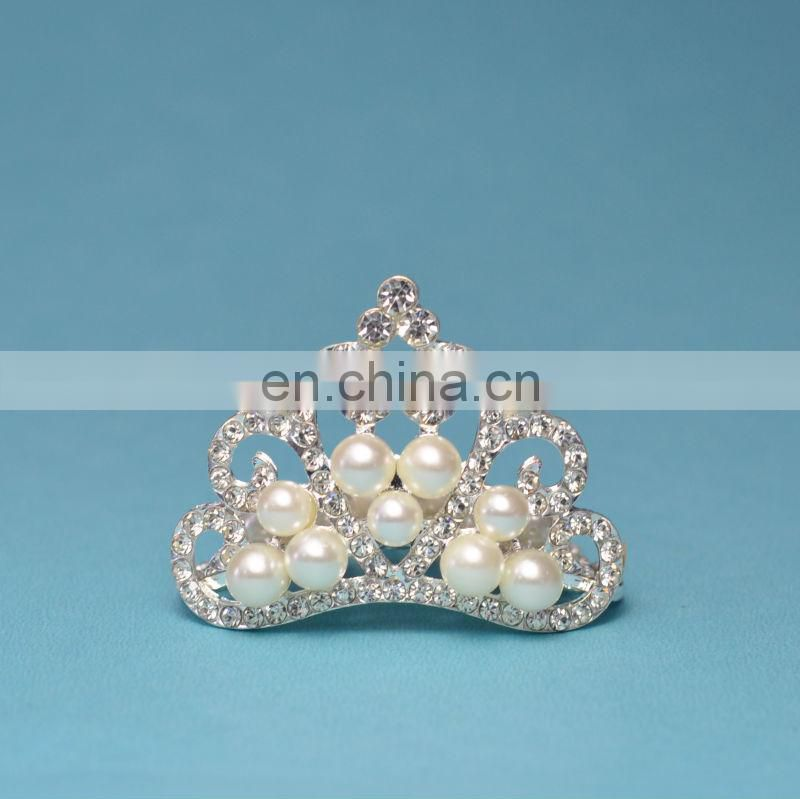 Baby Tiara, Crystal & Pearl Tiara , Princess Tiara, , Newborn Infant Toddler Child Girls Accessiores QueenBaby