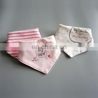 Hot selling new trendy style wholesale good quality baby bandana drool bibs