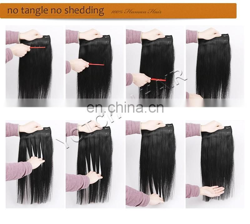 Top Quality Clip in Remy Human Hair Extensions Straight for Women's Beauty Hairsalon in Fashion