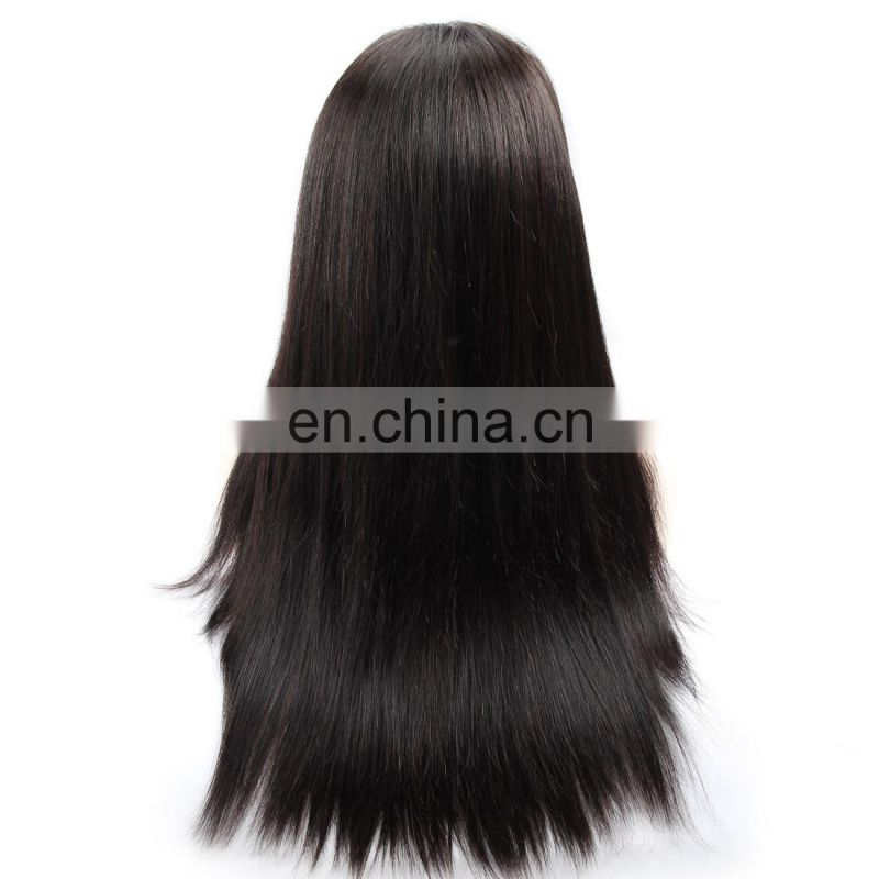 cuticle aligned brazilian human hair 360 lace frontal wig for black women sewing machine