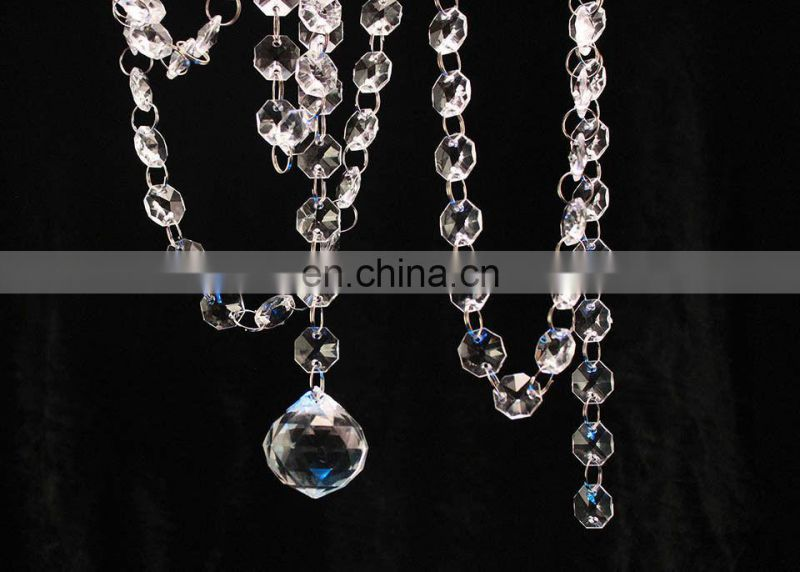 Clear Acrylic Crystal Beaded Chains Garland Decoration