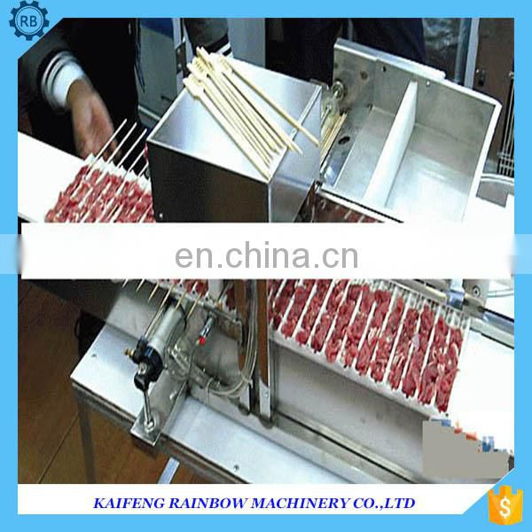 Best Price Commercial meat bbq skewer machine | beef meat wear string machine on hot sale vegetable wear machine
