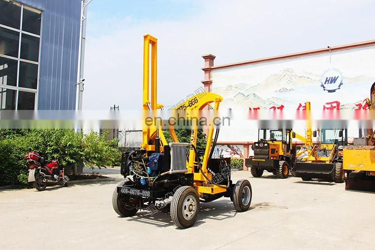 Hydraulic static photovoltaic /highway guardrail pile driver /Barrier pile driver