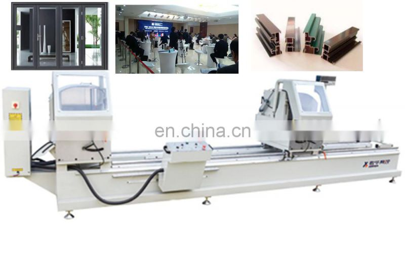 Doublehead aluminum cutting saw machine pvc window door cleaning line cleaner with Bestar Price