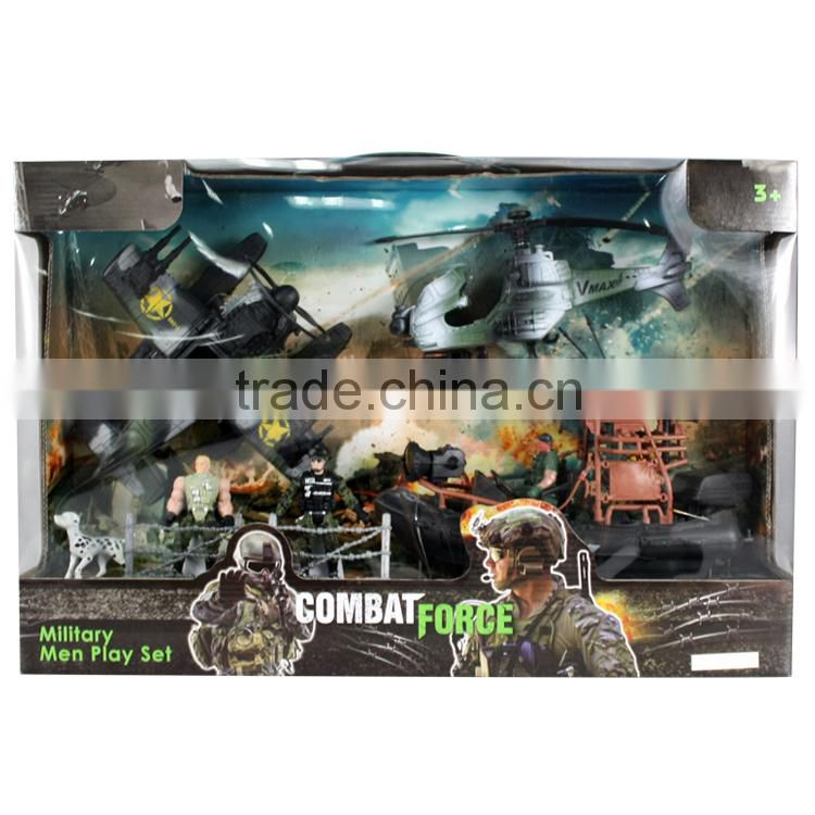 Wholesale kids plastic military toys play set