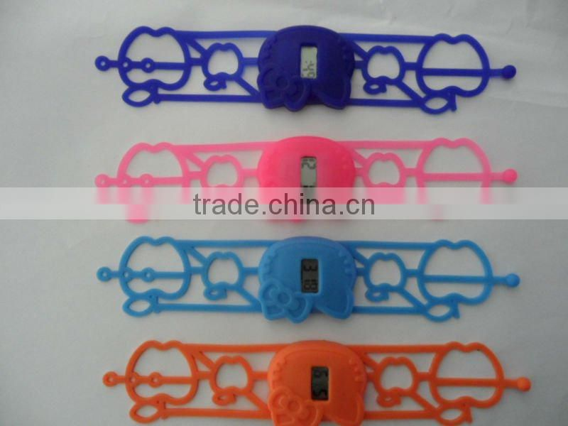 Hollow Wristband Digital and quartz silicone watch