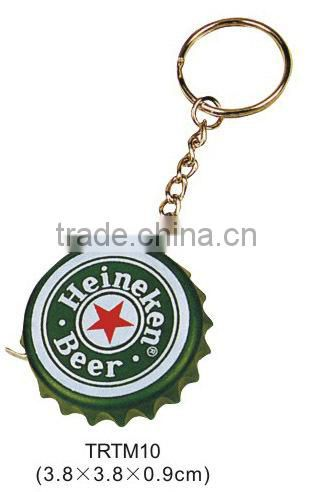 Key chain bottlecap novelty tape measure for promtion gift