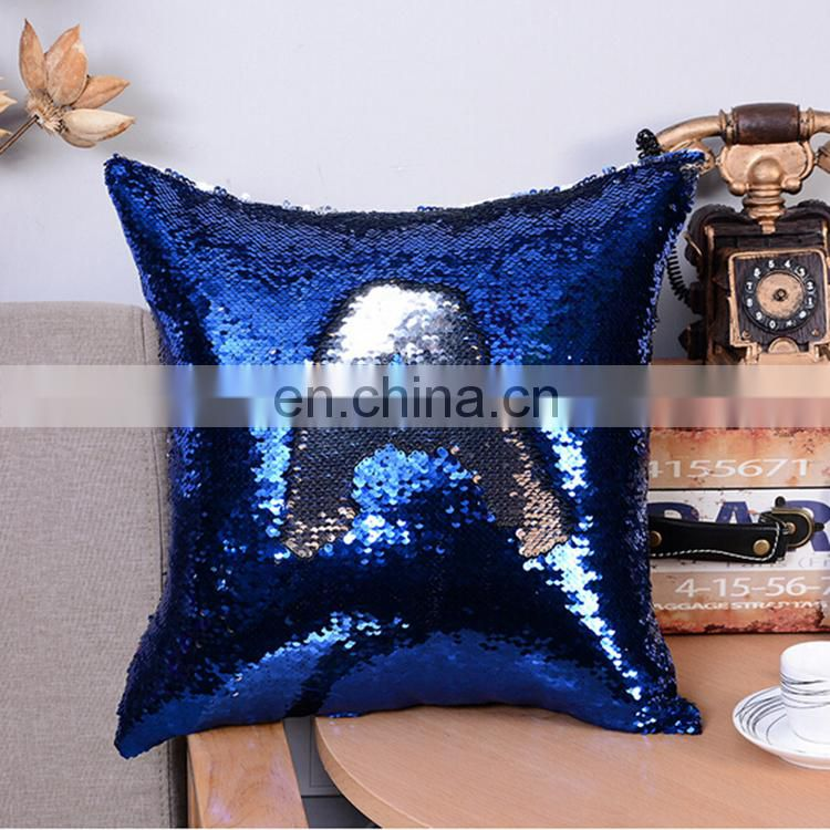 Hot selling creative sequin mermaid pillow with various designs