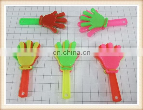 plastic promotion gift cute mini toy hand clapper