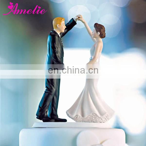 A07394 Wholesale Resin Bride Groom Cake Topper For Wedding