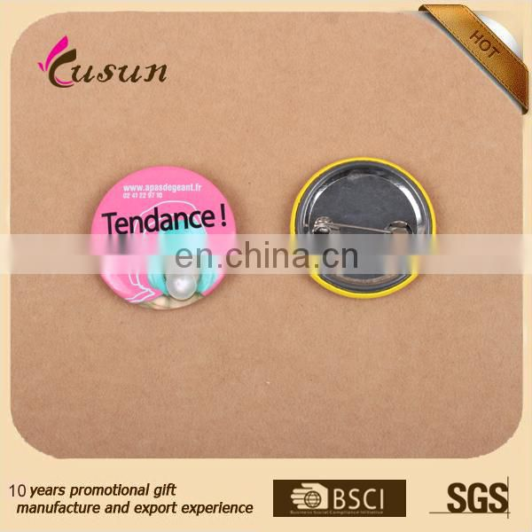 Cheap Wholesale Custom Metal Button Badge Mirror Button Badge tin Pin