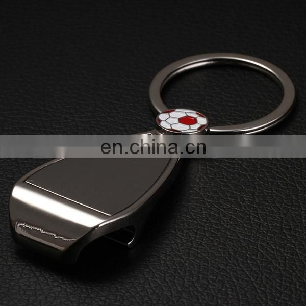 PROMOTIONAL METAL KEYRING FOOTBALL BOTTLE OPENER WITH RING