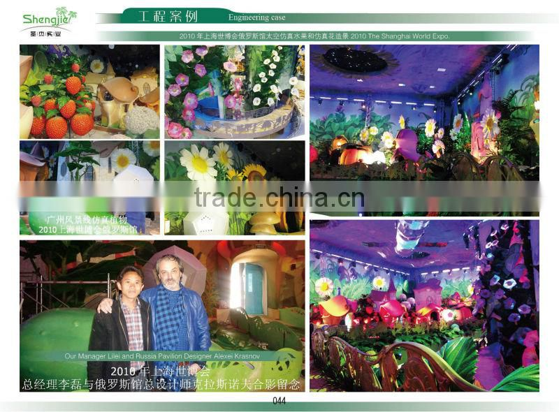 SJM091036 Guangzhou sell 100% natural hoodia decoration artificial cactus P.E.