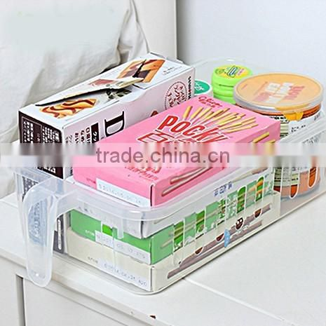 hot selling plastic kitchen storage container with handle