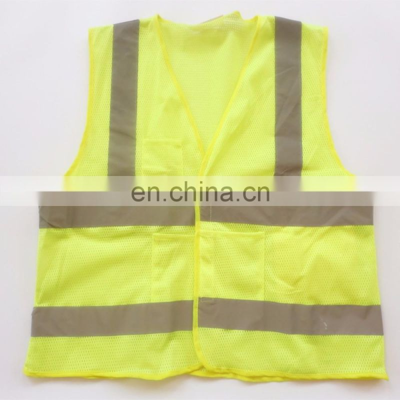 Wholesale Mesh Reflective Vest with PVC pocket