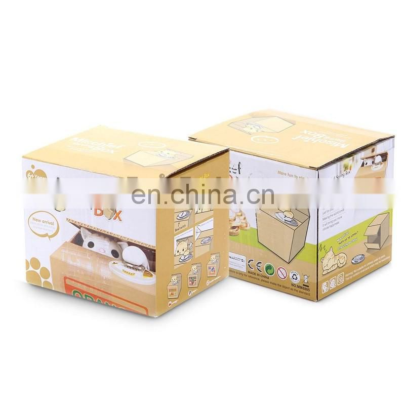 Money Saving Box, Cat Mischief Funny Automatic Kids Electronic Safe Money Box ,Kid Toy As Gift Piggy Bank