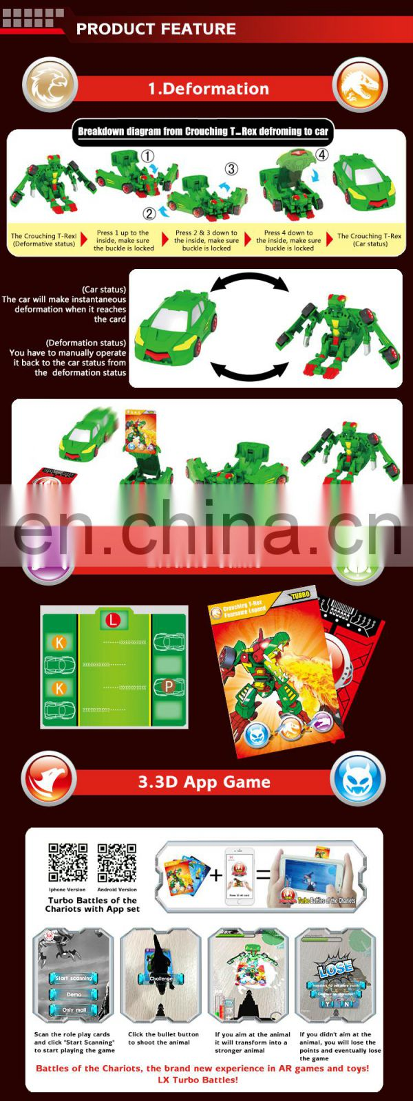 New toys for christmas 2015, Attractive deformation robot with different characters