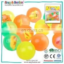 Chinese promotion items kids toy 45mm mini fish rubber ball