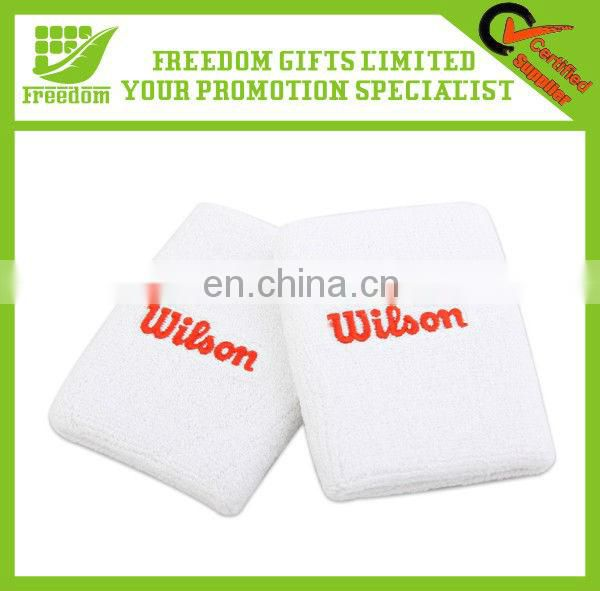 High Quality Logo Custom Cotton Sport Wristband