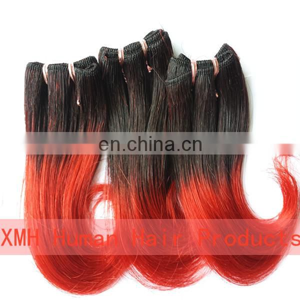 6inch Body Wave Hair Bundles Cheap Ombre Hair Extension color 1b +brown