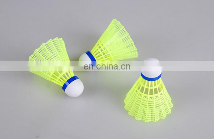 2016 Yellow Nylon Badminton Shuttlecock