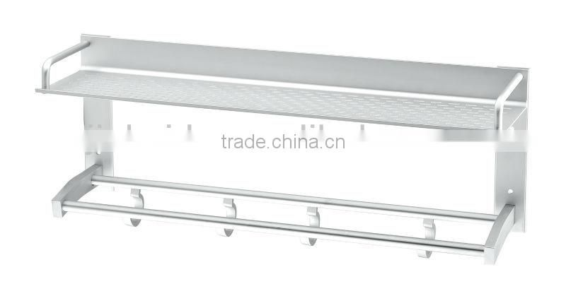 Hot sell Aluminium kitchen rack kitchen shelf,hanging rack L18-6-500