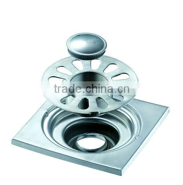 "Stainless steel square floor drain 3"" dual use B0111-2"