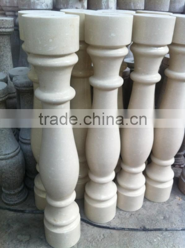 hand carved marble stone pillar