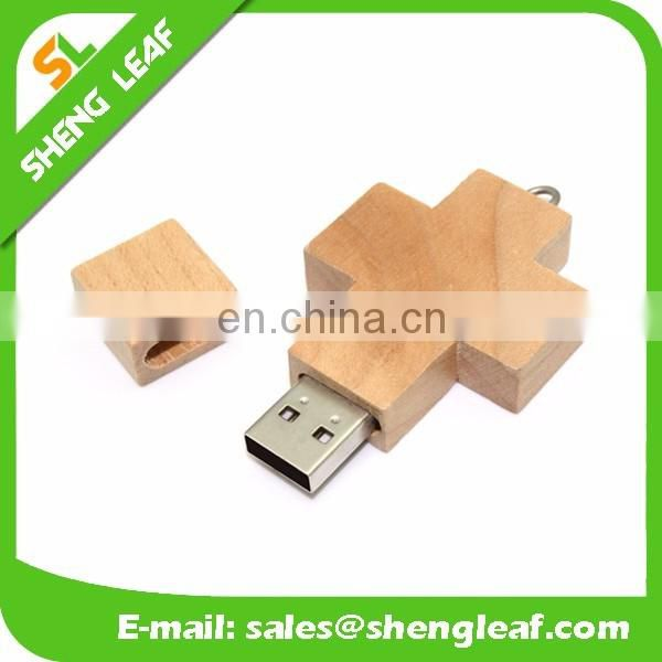 popular wedding gift custom logo wooden usb with box