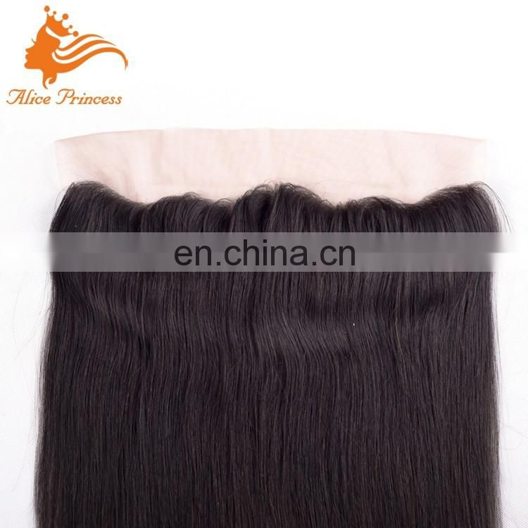 Cheap hair factory silk straight Brazilian natural color Frontal Virgin hair Blonde Lace Frontal Closure