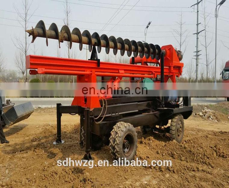 Construction hydraulic auger pile driver rig / pile driving machine / screw pile driver