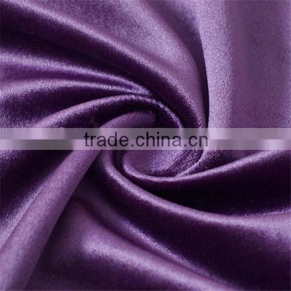 100 Polyester Tricot Fashion Style Shiny velvet sofa Fabric For Upholstery Decoration