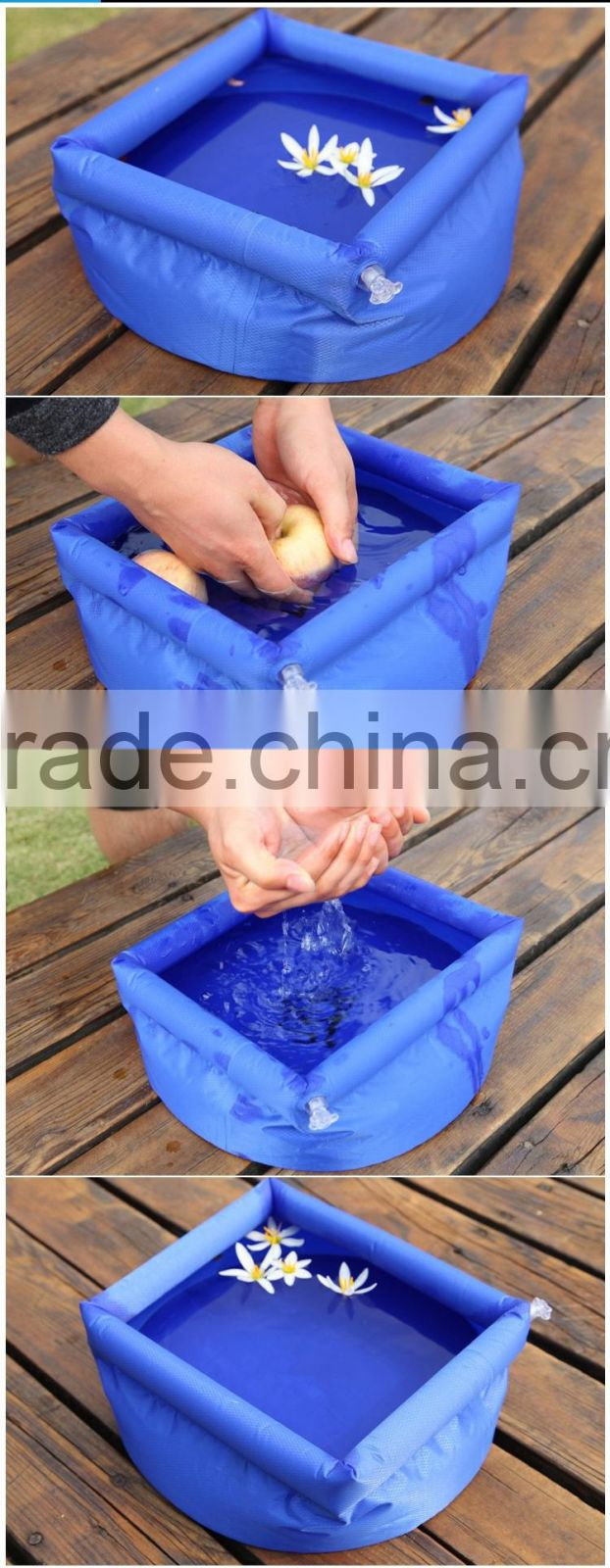 Camping travel tourism folding inflatable outdoor wash-basin