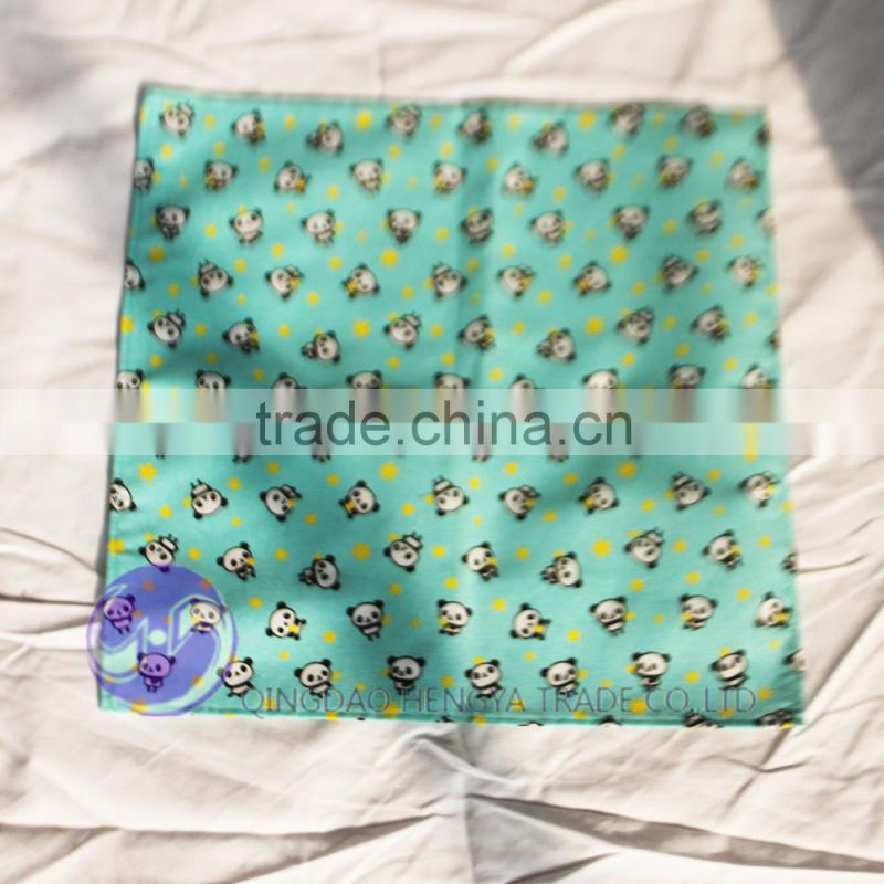 wholesale custom printed panda cotton fabric kids table cloth